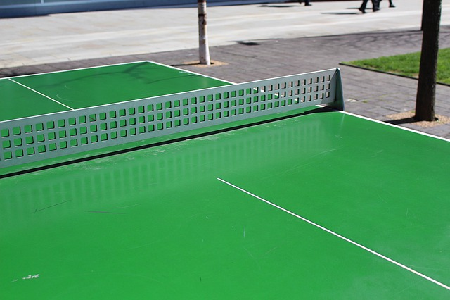 ping pong outdoors